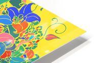 Vibrant Floral Design  HD Metal print
