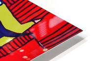 Red Warhol HD Metal print
