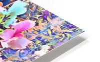 Pink and Blue Fusion HD Metal print