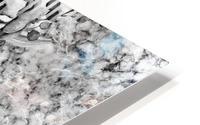 Shades of grey floral abstract  HD Metal print