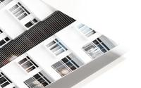 white and black city buildings HD Metal print