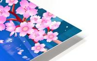 sakura cherry blossom night moon HD Metal print