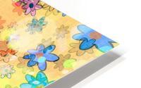 flowers color colorful watercolour HD Metal print