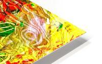 orange flower energy abstraction HD Metal print