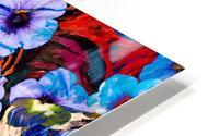 floral mottled indigo HD Metal print