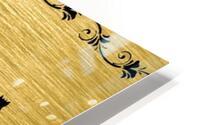 Gold illustration for interior decoration 2 HD Metal print
