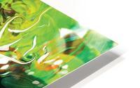 green fluid abstract HD Metal print