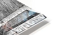 Man drawing a Lute HD Metal print