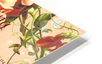 Maroon Floral Vintage Spring Formal Seating Chart Impression metal HD