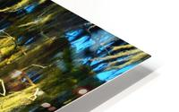 Blue Sky Green Leaves HD Metal print