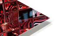 Red Glass Tiles 3 HD Metal print