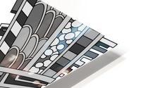 Wandering Abstract Line Art 01: Grayscale HD Metal print