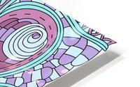 Wandering Abstract Line Art 03: Pink HD Metal print
