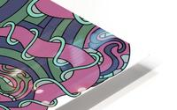 Wandering Abstract Line Art 04: Pink HD Metal print