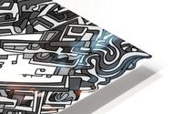 Wandering Abstract Line Art 05: Grayscale HD Metal print