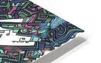 Wandering Abstract Line Art 05: Green HD Metal print