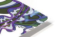 Wandering Abstract Line Art 07: Purple HD Metal print