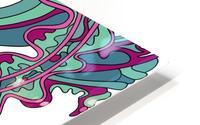Wandering Abstract Line Art 07: Green HD Metal print