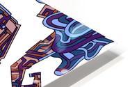 Wandering Abstract Line Art 08: Purple HD Metal print