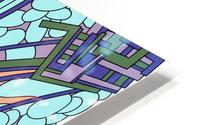 Wandering Abstract Line Art 09:  HD Metal print