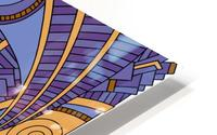 Wandering Abstract Line Art 10: Purple HD Metal print