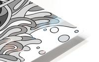 Wandering Abstract Line Art 11: Grayscale HD Metal print