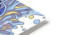 Wandering Abstract Line Art 11: Blue HD Metal print
