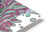 Wandering Abstract Line Art 11: Pink HD Metal print