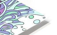 Wandering Abstract Line Art 11: Purple HD Metal print
