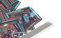 Wandering Abstract Line Art 12: Red HD Metal print