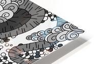 Wandering Abstract Line Art 13: Grayscale HD Metal print