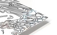 Wandering Abstract Line Art 14: Black & White HD Metal print