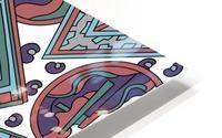Wandering Abstract Line Art 15: Blue HD Metal print