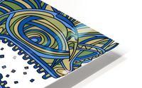 Wandering Abstract Line Art 17: Green HD Metal print