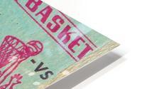 1964 College Basketball North Carolina vs. North Carolina State HD Metal print