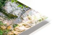 Waterfall in the forest HD Metal print