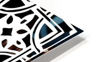 Blackandwhitegeometricgeometrypattern HD Metal print