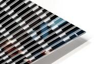 Black and White Skyscraper Windows HD Metal print