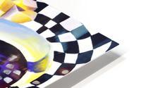 80s Geometric Abstract Watercolor HD Metal print