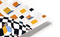 Retro Minimalism Abstract Chess Pattern HD Metal print