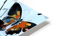 Seamless Butterflies Pattern  HD Metal print