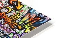 graffiti word seamless pattern HD Metal print