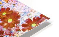 Cosmos Flowers Brown HD Metal print