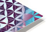 Flower of Life Hexagon Pattern HD Metal print