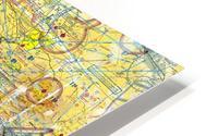 LA & San Diego Aeronautical Wall Art HD Metal print