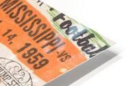 1959 Mississippi vs. Tennessee HD Metal print