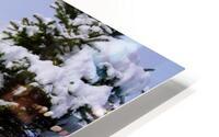 Harpersfield Ohio covered bridge winter and snow HD Metal print