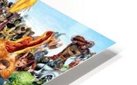 R-eady for battle HD Metal print