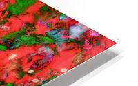The edge of the red lake HD Metal print