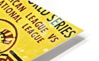 1956 World Series Perfect Game Ticket Stub Art HD Metal print